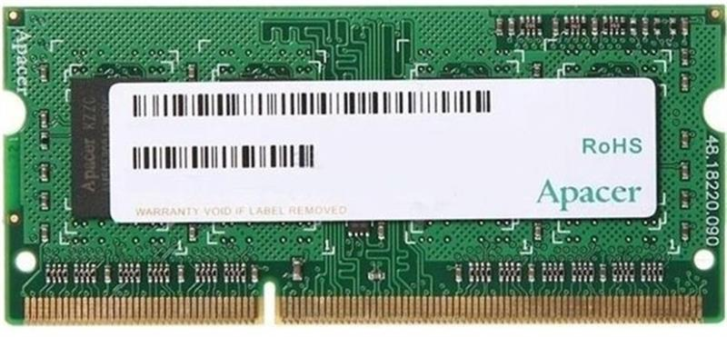 Модуль пам`ятi SO-DIMM 4GB/1600 1.5V DDR3 Apacer (DS.04G2K.KAM)