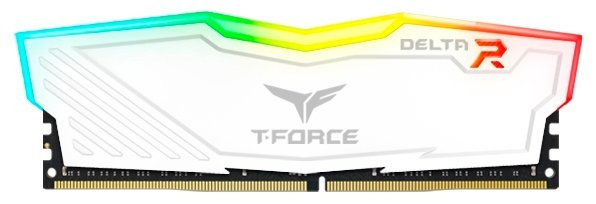 Модуль пам`ятi DDR4 4GB/2666 Team T-Force Delta White RGB (TF4D44G2666HC15B01)