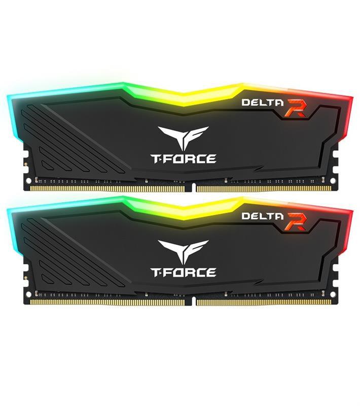 Модуль памяти DDR4 2x16GB/2400 Team T-Force Delta Black RGB (TF3D432G2400HC15BDC01)