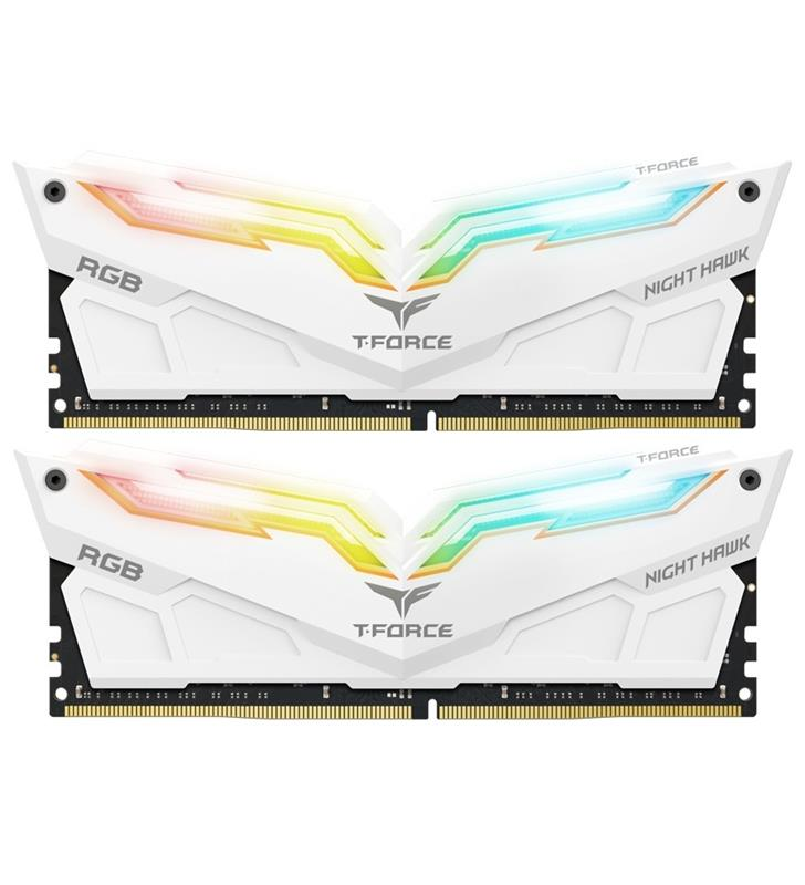 Модуль пам`ятi DDR4 2x8GB/4000 Team T-Force Night Hawk White RGB (TF2D416G4000HC18EDC01)